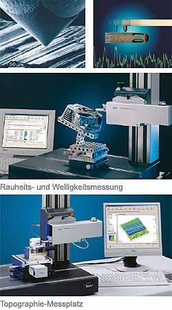 Oberflächenmesstechnik und Konturmesstechnik, Rauhigkeitsmessung