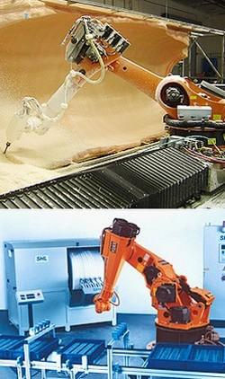 Fräsen mit Roboter, Fräsroboter, Bearbeiten mit Roboter