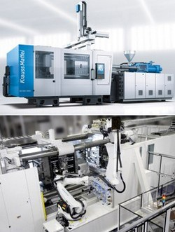 Spritzguss-Automation mit Roboter, Spritzgießmaschinen-Automation