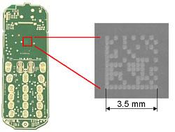 Matrixcodelesen auf Mobilfunk-Leiterplatten