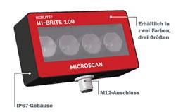 LED-Flächenbeleuchtung NERLITE HI-BRITE HB-100, Red
