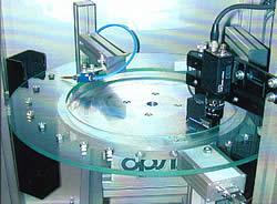 Kamera-Prüf- und Messtechnik PARTchecker-T mit Glasteller