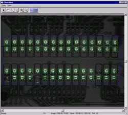Prüfung eingepresste Steckverbinder auf Leiterplatten